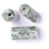 Green Spot 6X12mm Round Tube Semi-Precious